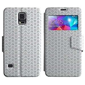 LEOCASE Patrón Vertical Funda Carcasa Cuero Tapa Case Para Samsung Galaxy S5 I9600 No.1000293