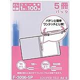 LIHITLAB 文件夹5个装 A4 F3006-5P 蓝色