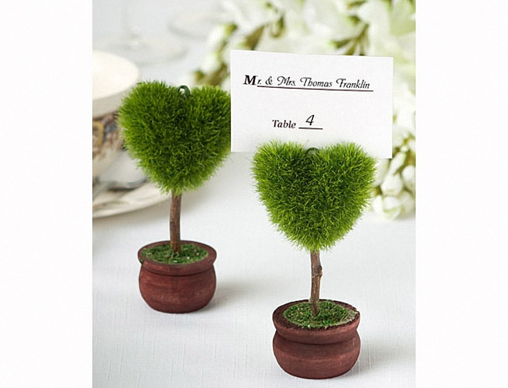 Unique Heart Design Topiary Place Card Holder (Set of 48)