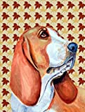 Caroline's Treasures LH9107CHF Basset Hound Fall Leaves Portrait Flag Canvas, Large, Multicolor Review