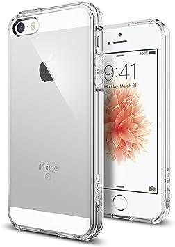 Spigen Coque iPhone Se (2016) / 5S / 5 [Ultra Hybrid] Bumper Souple, Dos Transparent Rigide, Protection Air Cushion aux 4 Coins, Compatible avec ...