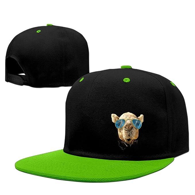 9898a7bf34f57 Camel with Sunglasses Unisex Adjustable Snapback Hip Hop Hat Baseball Cap