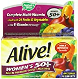 Alive! Women's 50+ Once Daily Multivitamin and Multimineral 50 Tablets, Health Care Stuffs