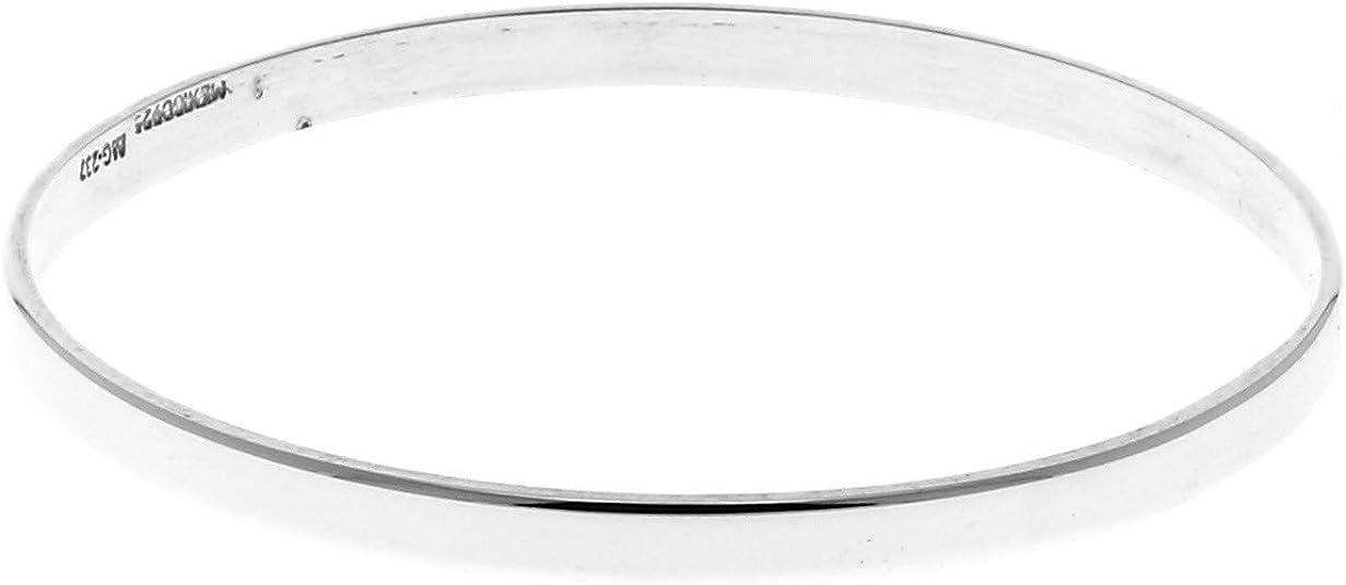 Bracelet en Argent Lisse jonc Tige Plate