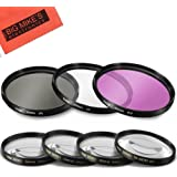 7 Piece 40.5mm Filter Set Includes 3 PC Filter Kit (UV-CPL-FLD) And 4 PC Close Up Filter Set for Sony Alpha A5000