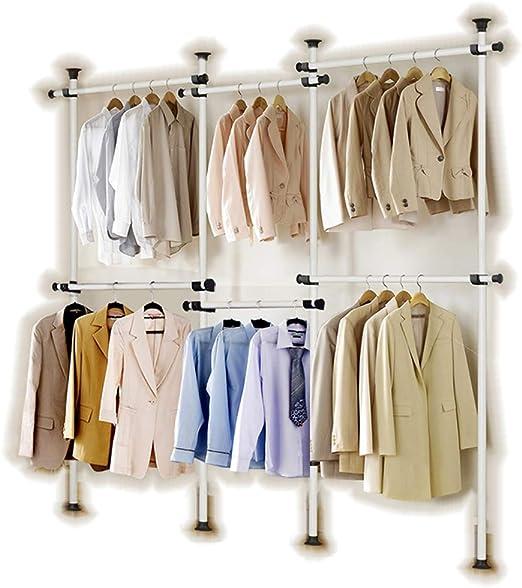 Corodo Colgadores m/ágicos de ahorro de espacio para ropa de 12 ranuras de acero inoxidable para armario organizador de armario 8 unidades