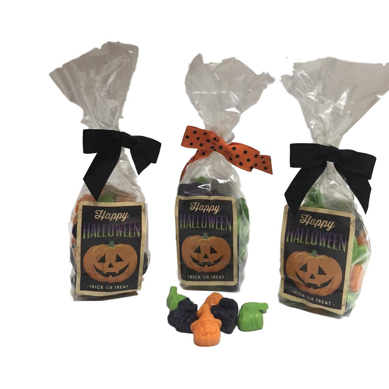 Gourmet Halloween Gummy Candy Mix with Cats Witches Broomsticks and Pumpkins 6 oz 3 Pack