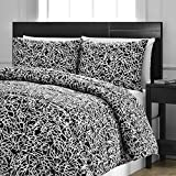 Reversible Comforter 3-Piece Set - Down Alternative Medium Weight by ExceptionalSheets, King/Cal King, Snowflake