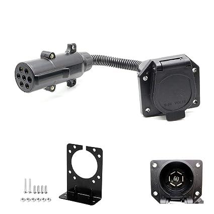 amazon com anto 7 pin round to 7 rv blade adapter trailer 5 pin flat trailer plug trailer connectors in north america