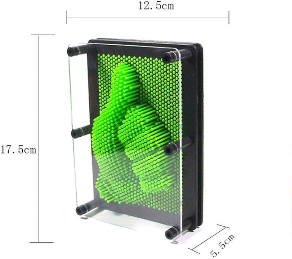 LIAOLEI10 Escultura 3D 5 Colores S/M tamaños Pin mágico Aguja Impresión Huella de la Mano Clon Escultura de Mano Juguete de Arte Creativo Juguete de Escritorio de Oficina, Rosa S: Amazon.es: Hogar