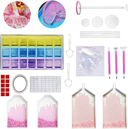 5D Acrylic Diamond Painting Point Drill Plastic Embroidery Tray Plate Tools
