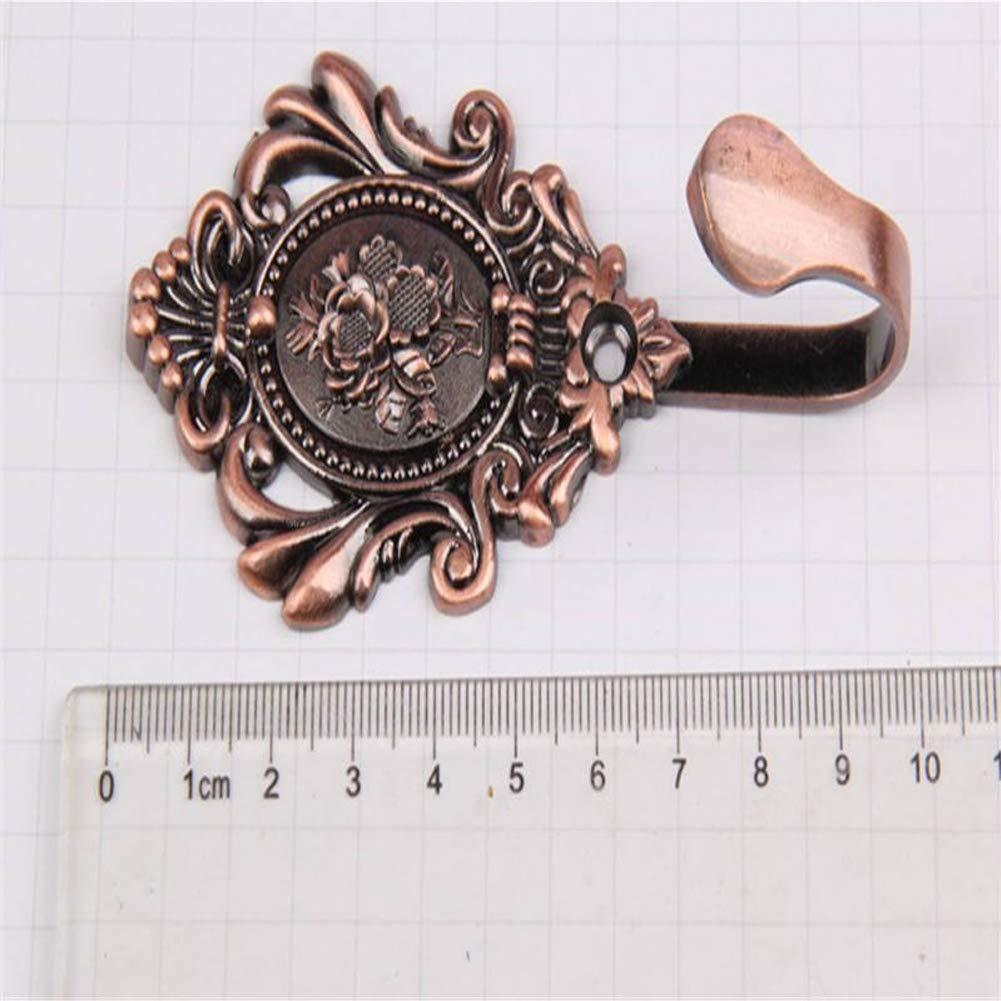 Taille Unique Le Bureau Support de Rideau d/écoratif pour la Maison en Alliage de m/étal en Forme de U Motif Rose Nickel Noir Lot de 2 embrasses de Rideaux Fixation Murale