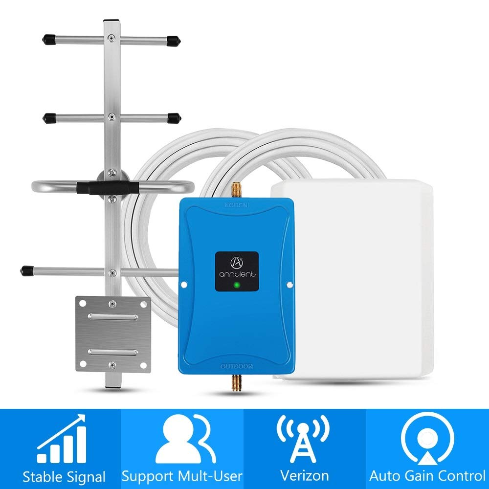 Verizon 4G Cell Phone Signal Booster for Home and Office - Enhance Your LTE Voice and Data by 65dB 700MHz Band 13 Signal Repeater and Panel/Yagi Antennas - Extend Coverage Up to 4,500Sq Ft