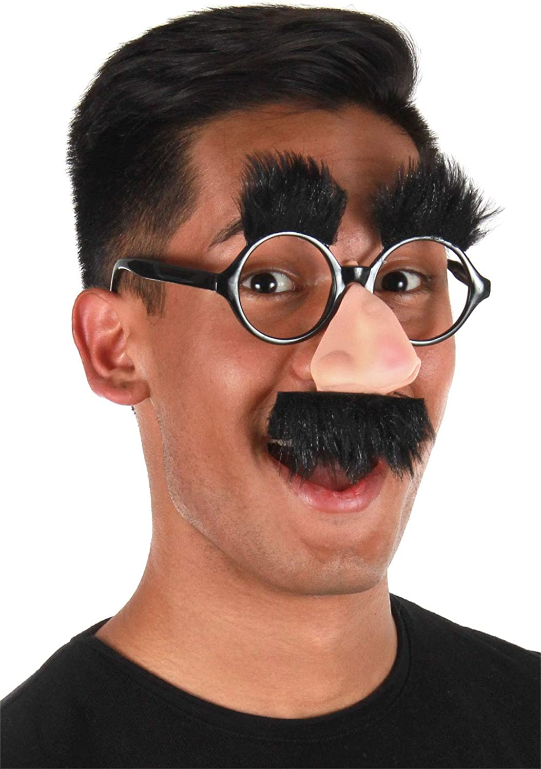 Amazon Com Elope Licensed Groucho Marx Costume Nose Glasses With Mustache Black Clothing