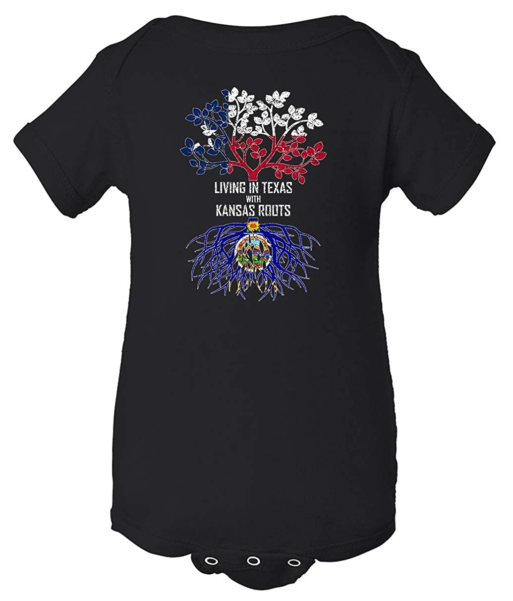 Tenacitee Babys Living in Texas Kansas Roots Shirt