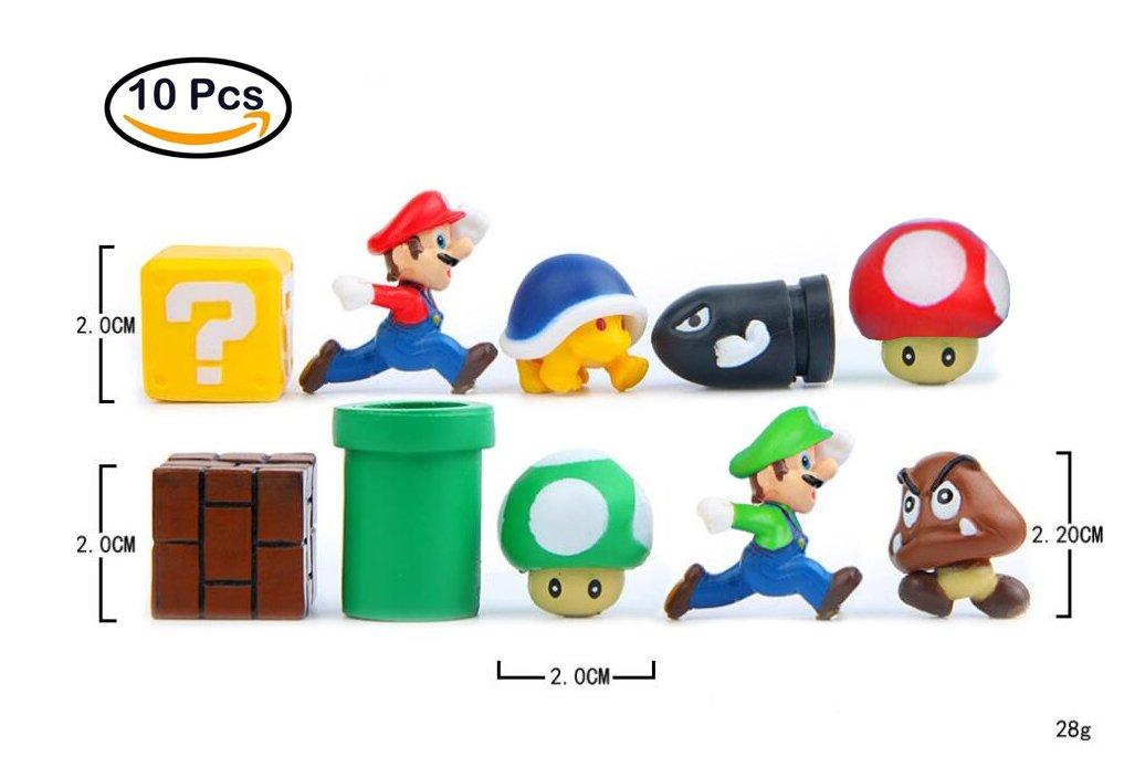 Super Mario imanes imanes nevera 3d, 10 piezas, de pared de metal juguetes para niños adornos y decoración collezionismo