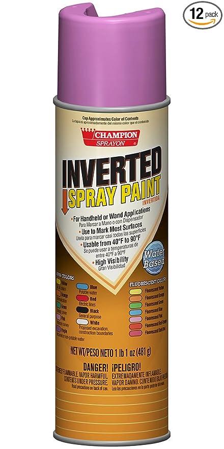Champion 4855 Inverted Spray Paint, APWA Purple (Pack of 12)