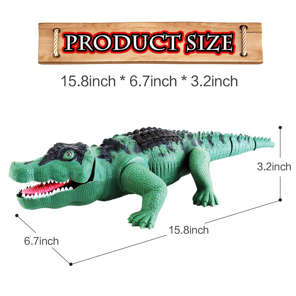 Liberty Imports Crocodile Toy Battery Operated 16'' Alligator with Moving Jaws, Lights and Realistic Sound by Liberty Imports (Image #6)