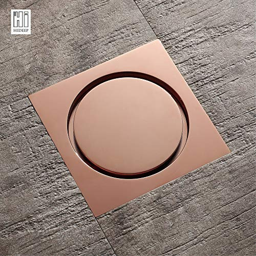 Ochoos New Brass Rose Gold Shower Drain Sink Bathtub Drainer Bathroom Toilet Kitchen Balcony Universal Floor Drain