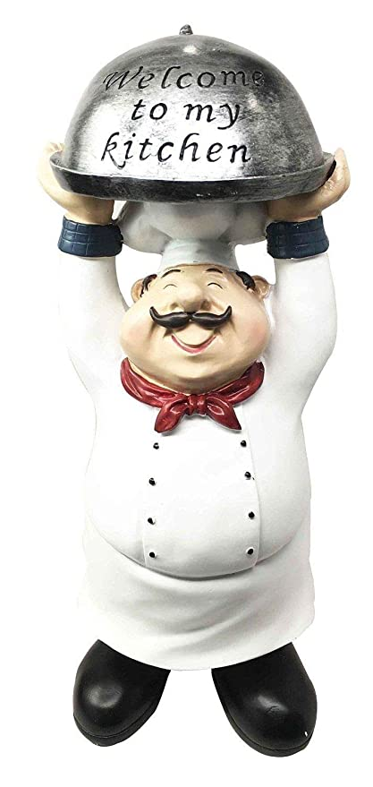 Amazon.com : Figurine Master Chef Carrying Welcome to My ...