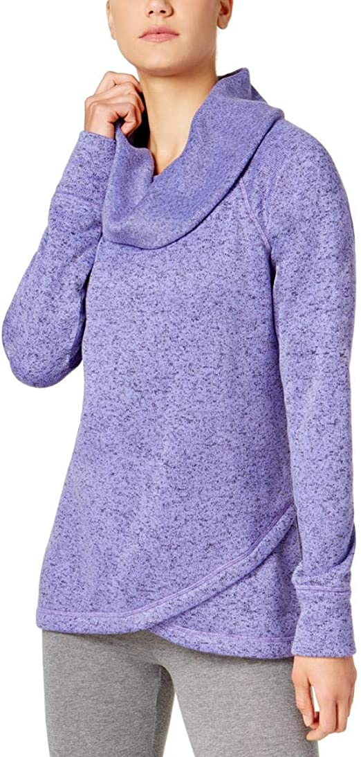 Ideology Womens Sweatshirt Long Sleeve Cowl-Neck Blue Plus Sizes