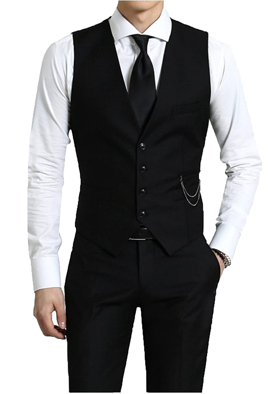 Kayhan originale uomo Panciotto Gilet slim fit cotone nero elegante S M L XL XXL 2XL A-6300