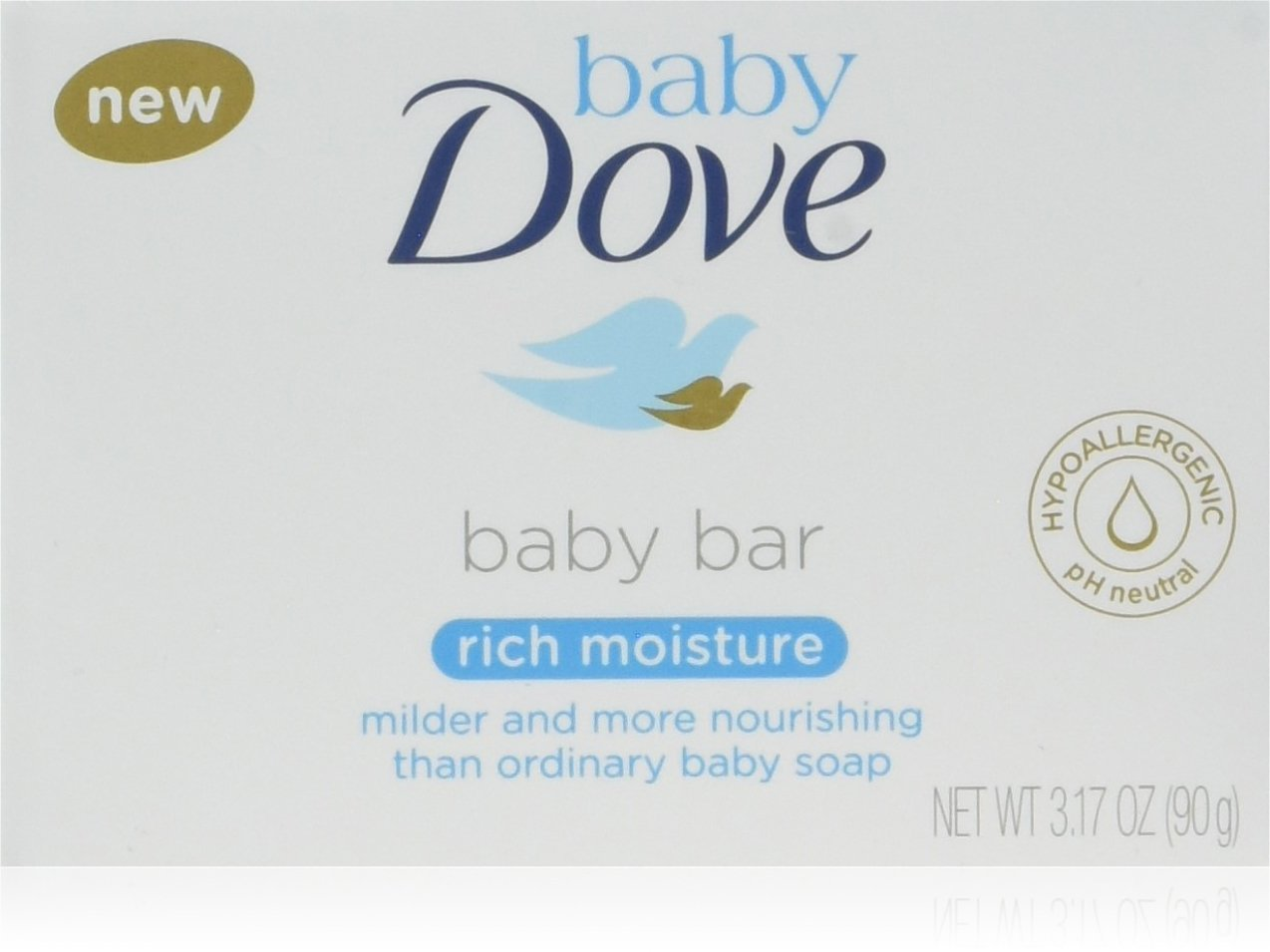 Baby Dove Bar, Rich Moisture, 3.17 Ounce (Pack of 8)