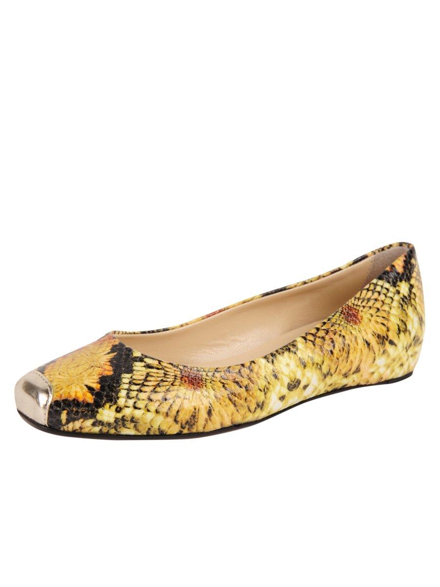 Butter Shoes Womens Caren Flat B06XXLPC43 7.5 B(M) US|Yellow Multi
