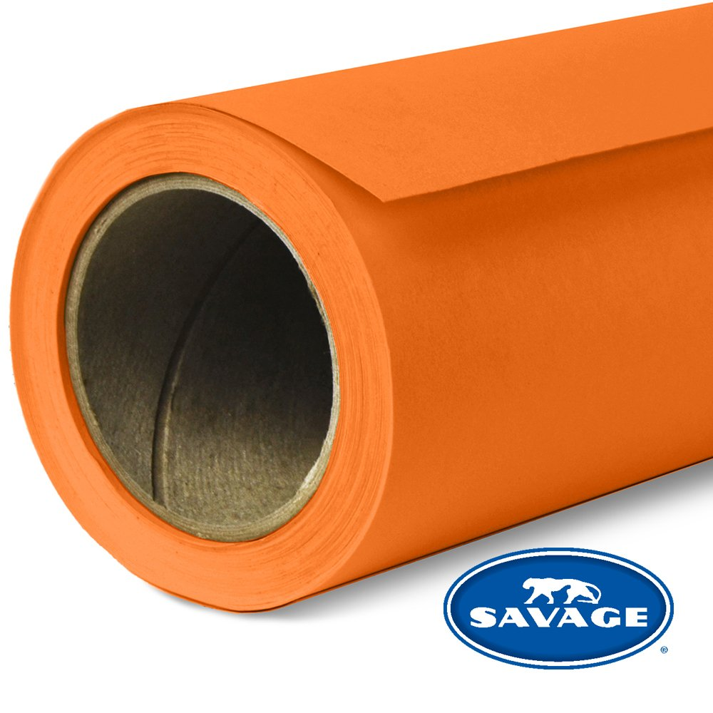Savage Seamless Background Paper - #24 Orange (107 in x 36 ft) by Savage (Image #1)