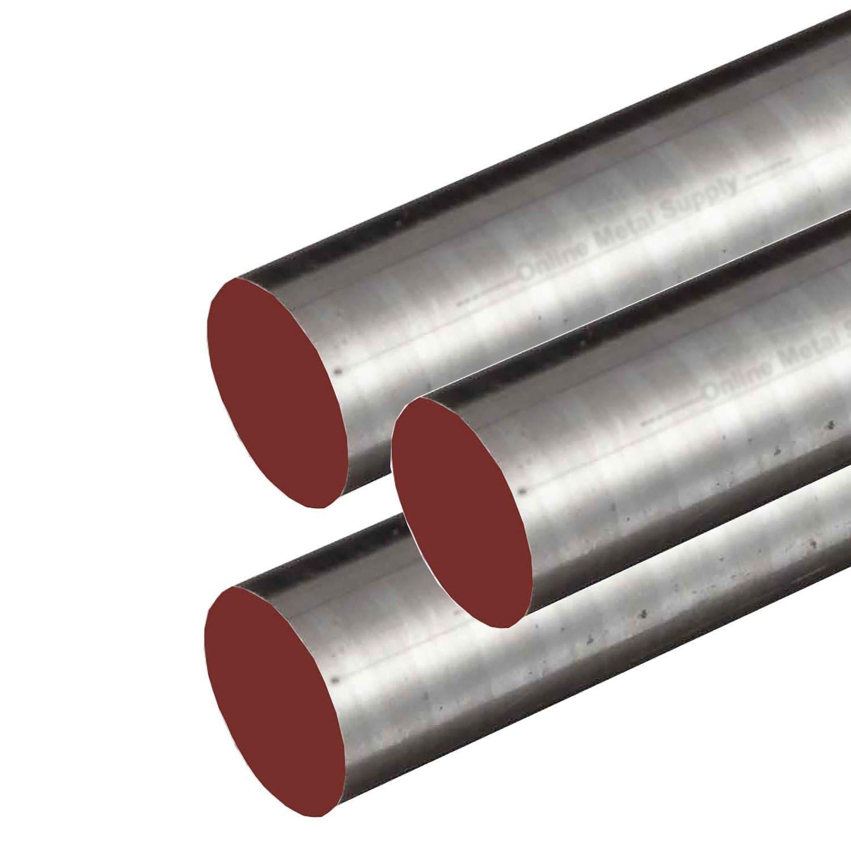Online Metal Supply 1144 CF Steel Round Rod, 0.250 (1/4 inch) x 48 inches (3 Pack) by Online Metal Supply