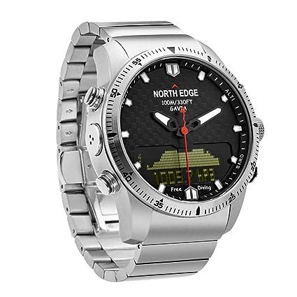 OOLIFENG Reloj Militar Impermeable De 100M, Buceo Relojes Hombres, Altímetro Barómetro Brújula Termómetro Diseño