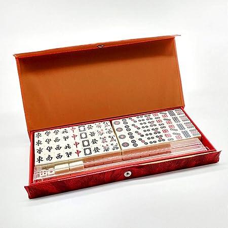Bixialan Set de Mahjong Mini Mahjong Juego portátil con la Caja Estilo Retro for el Partido casero para el hogar Fiesta (Color : White, Size : One Size): Amazon.es: Hogar