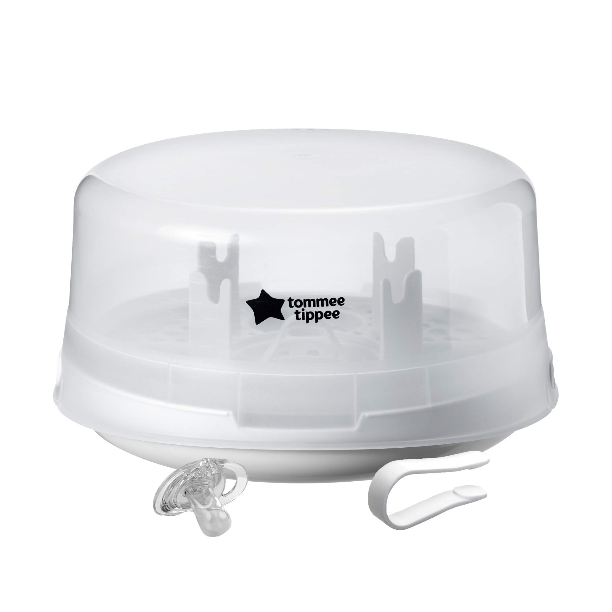 Tommee Tippee Microwave Travel Steam Baby Bottle Sterilizer - Sterilize 4 Bottles at Once in 4-8 minutes - BPA Free by Tommee Tippee