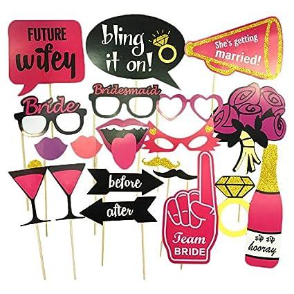 funnito premium bachelorette party decorations fun uniquely designed photo booth props 20 pieces