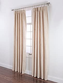 stylemaster tucson thermal insulate pinch pleat drapes 144 by 84inch beige
