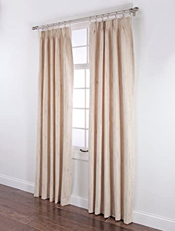 stylemaster tucson thermal insulate pinch pleat drapes 48 by 72inch beige