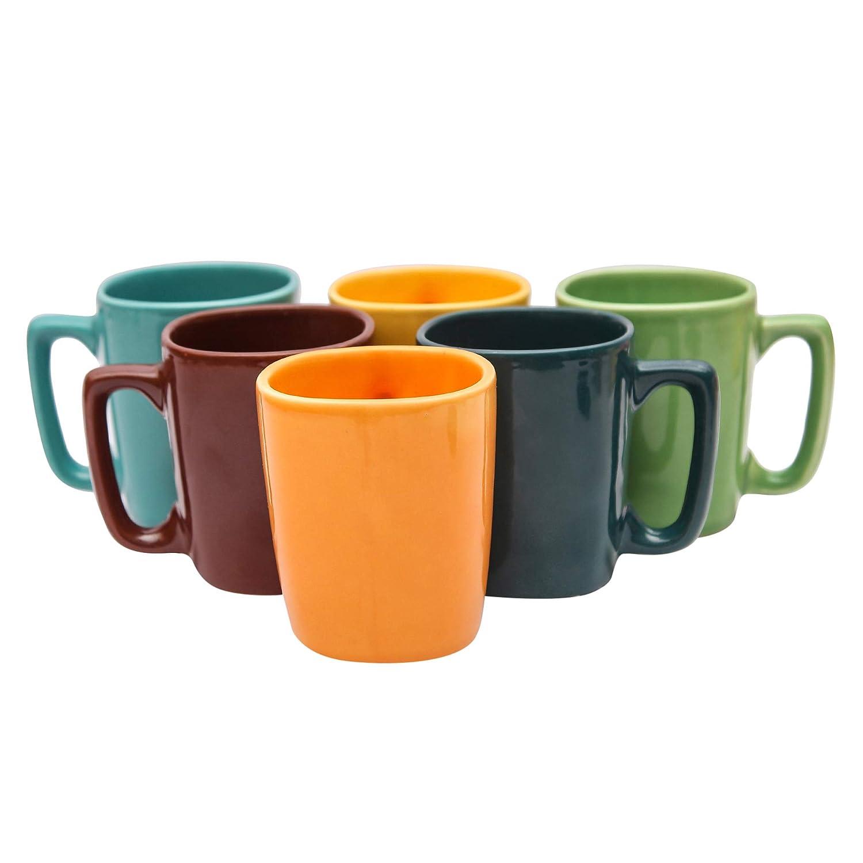Ceramic Coffee Mugs - 6 Pieces