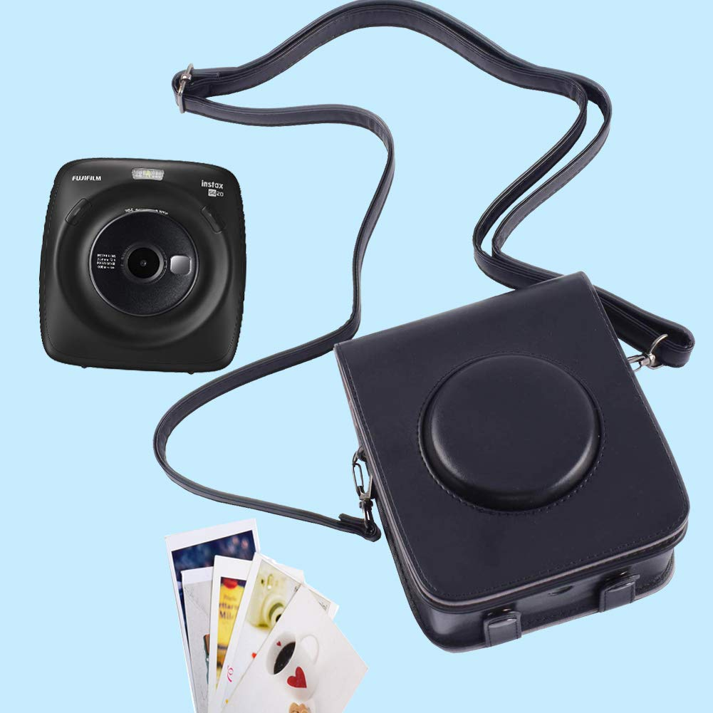 Funda Protectora para c/ámara Fujifilm Instax Square SQ20 Instant Film con Correa Ajustable