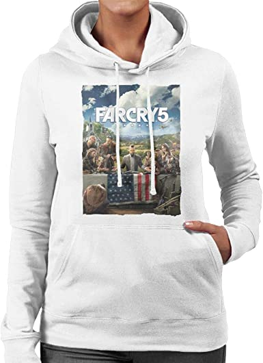 Amazon Com Far Cry 5 Cover Art Women S Hooded Sweatshirt Clothing