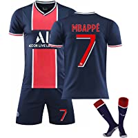 GJMQQ Camiseta de Hombre, Camiseta de Segunda equipación del Paris Saint-Germain 2021, Mbappé 7# / Neymar 10# Camisetas…