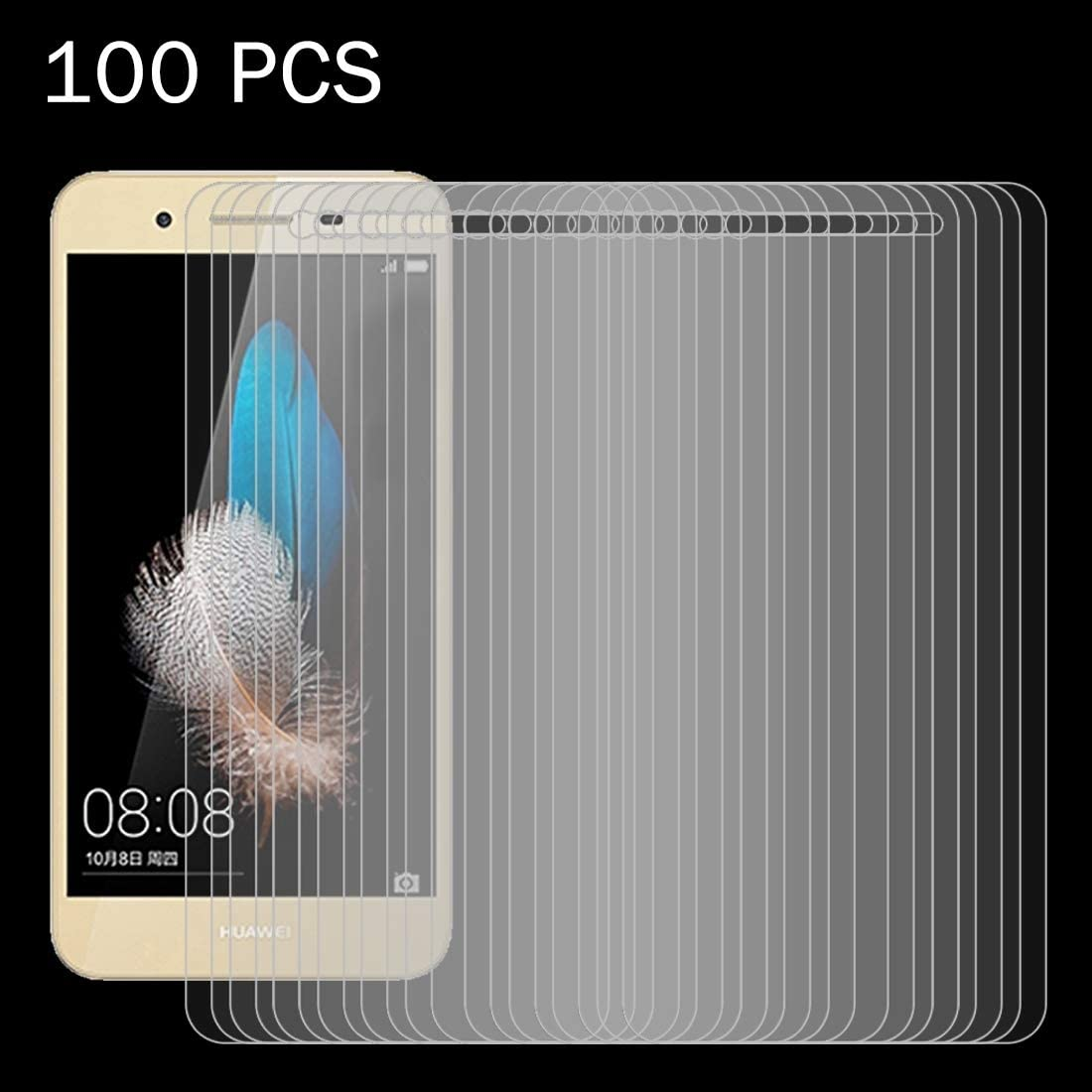 Easy to Install Super Clear and dura 100 PCS for Huawei Enjoy 5S 0.26mm 9H Surface Hardness 2.5D Explosion-Proof Tempered Glass Screen Film yf