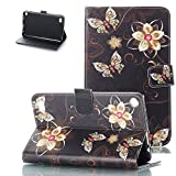 Kindle Fire 7 2017/2015 Case, Motie [Kickstand] [Auto Wake/Sleep] Slim Folio Protective Cover with Multi Angle Viewing for Amazon Fire 7 7th/ 5th Generation, Gold Butterfly