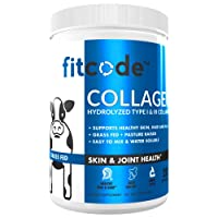 Fitcode Collagen Peptides - Enhanced Absorption, Hydrolyzed Type 1 & 3 Grass fed...