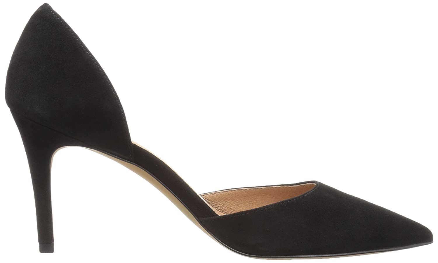 206 Collective Women's Adelaide D'Orsay Dress Pump B0789623BR 9.5 B(M) US|Black Suede