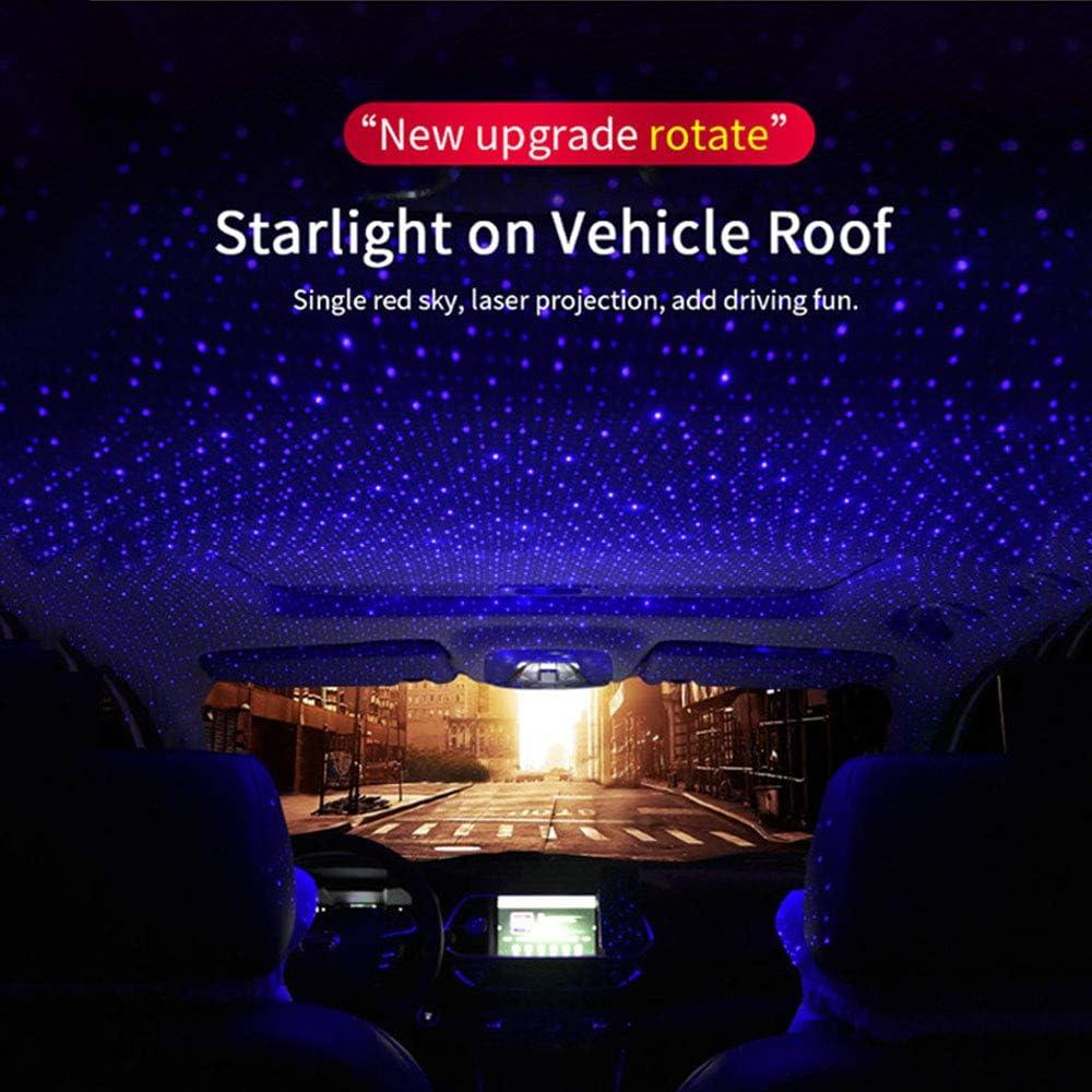 Romantische Auto Dach Sterne Projektor Lichter Usb Auto Atmosphäre Lampe Sterne Licht Led Projektor Sternenhimmel Keine Notwendigkeit Zu Installieren Plug And Play Blau Lila Beleuchtung