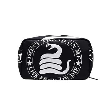 9b74ac9d6f08 Amazon.com   Dont Tread Me Gadsden Flag Makeup Bags Multi Compartment Pouch  Storage Cosmetic Bag   Beauty