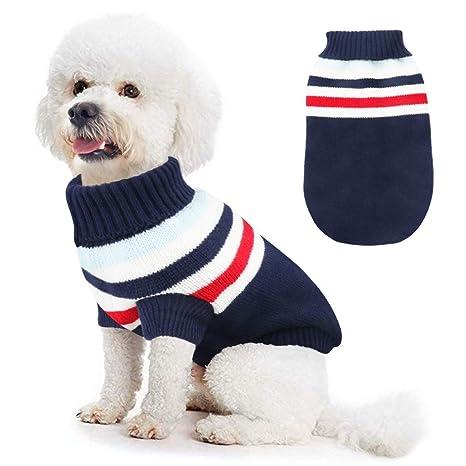 Idepet Disfraz Gato, Trajes para Perros para Gatos Pequeños y Medianos Disfraz para Invierno Navidad (S, Azul)