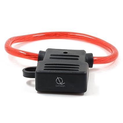 sodial r 8 awg gauge maxi blade fuse holder inline wire 12 24v volt rh amazon com