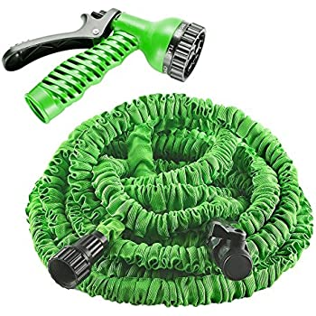 expandable garden hoses. Garden Hose, Izery Flexible Expandable Expanding Collapsible \u0026 Lawn Water Hose With Free 7 Hoses )