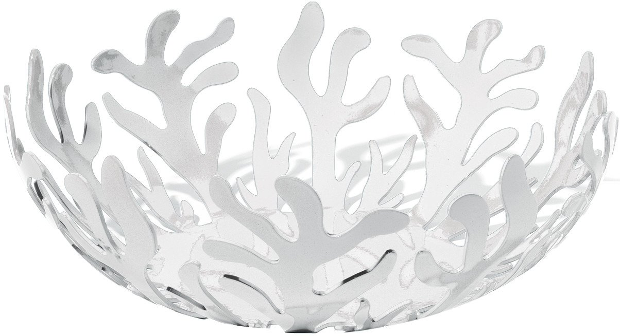 Alessi ESI01/21 W ''Mediterranean'' Fruit Bowl in Steel Colored with Epoxy Resin, White by Alessi
